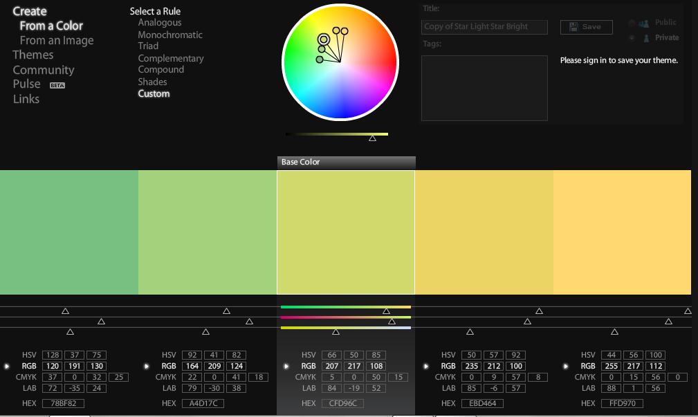 Adobe Kuler Ekran Görüntüsü
